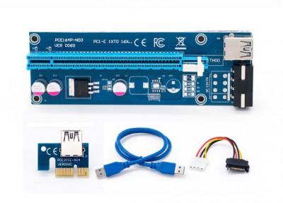 Riser Card PCI Express  ver.006s Molex с USB 3.0