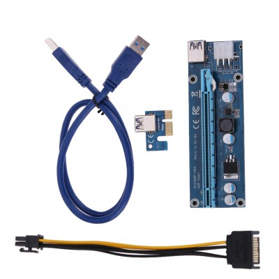 Riser Card PCI Express ver.006C 6Pin c USB 3.0