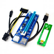 Riser Card M.2 - PCI-E 16X ver.006C 6Pin c USB 3.0