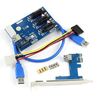 RISER CARD PCI EXPRESS Множитель 1X - 3шт 1X